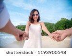 couple lover hold hands... | Shutterstock . vector #1193900548