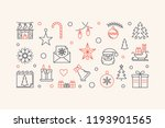 new year horizontal vector...