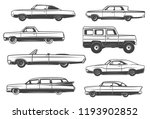 retro cars and vintage rarity... | Shutterstock .eps vector #1193902852