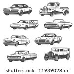 retro cars and vintage...   Shutterstock .eps vector #1193902855