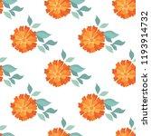 marigold. seamless pattern... | Shutterstock .eps vector #1193914732