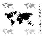 world maps | Shutterstock .eps vector #119391712