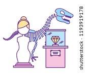 prehistoric dinosaur skeleton... | Shutterstock .eps vector #1193919178