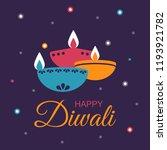 diwali hindu festival...   Shutterstock .eps vector #1193921782