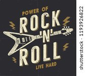 vintage hand drawn rock n roll... | Shutterstock . vector #1193926822