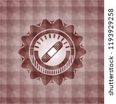 bandage plaster icon inside red ... | Shutterstock .eps vector #1193929258