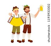 bavarian men with beer glass... | Shutterstock .eps vector #1193933302