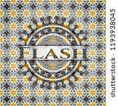 flash arabesque style emblem....   Shutterstock .eps vector #1193938045