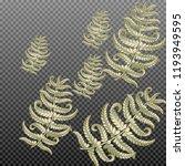 fern frond herbs  tropical... | Shutterstock .eps vector #1193949595