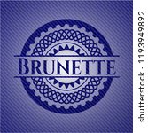 brunette badge with denim... | Shutterstock .eps vector #1193949892