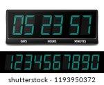 countdown timer. clock counter. ... | Shutterstock .eps vector #1193950372