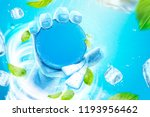 frozen hand holding the blank... | Shutterstock .eps vector #1193956462