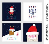 collection of 6 christmas card... | Shutterstock .eps vector #1193960092