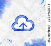 upload cloud outline watercolor ... | Shutterstock .eps vector #1193960875