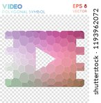 video polygonal symbol  bizarre ... | Shutterstock .eps vector #1193962072