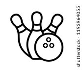 bowling pins with ball icon....   Shutterstock .eps vector #1193964055