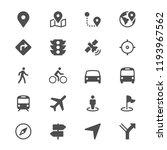 navigation glyph icons | Shutterstock .eps vector #1193967562