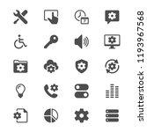 setting glyph icons | Shutterstock .eps vector #1193967568
