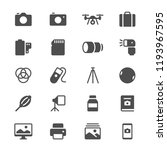 photography glyph icons | Shutterstock .eps vector #1193967595