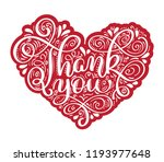 thank you hand drawn text in... | Shutterstock .eps vector #1193977648