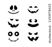 Halloween Pumpkin Faces Icons...
