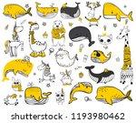 Vector Set Of Cute Doodle...