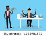 african american male boss... | Shutterstock .eps vector #1193981572
