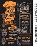 burger menu template for... | Shutterstock .eps vector #1193987332
