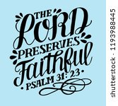 hand lettering the lord... | Shutterstock .eps vector #1193988445