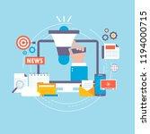 online news  newspaper  news... | Shutterstock .eps vector #1194000715