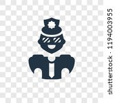 policeman vector icon isolated...   Shutterstock .eps vector #1194003955