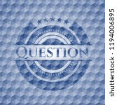 question blue emblem with... | Shutterstock .eps vector #1194006895
