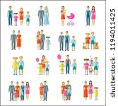 family icons flat | Shutterstock .eps vector #1194011425