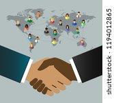 international business people... | Shutterstock .eps vector #1194012865
