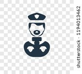 policeman vector icon isolated...   Shutterstock .eps vector #1194013462