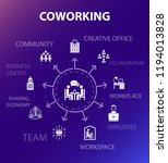 coworking concept template.... | Shutterstock .eps vector #1194013828