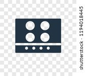 stove vector icon isolated on... | Shutterstock .eps vector #1194018445