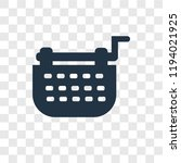 typewriter vector icon isolated ... | Shutterstock .eps vector #1194021925