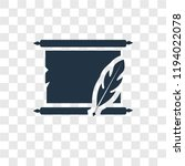 manuscript vector icon isolated ... | Shutterstock .eps vector #1194022078