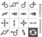 16 arrow icons. arrow signs... | Shutterstock .eps vector #119402638