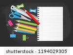 blank note paper with school... | Shutterstock .eps vector #1194029305