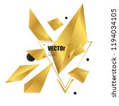 abstract background with gold... | Shutterstock .eps vector #1194034105