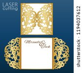 laser cut wedding invitation... | Shutterstock .eps vector #1194037612