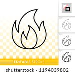 fire thin line icon. outline... | Shutterstock .eps vector #1194039802