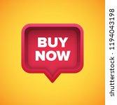 high detailed red speech bubble ... | Shutterstock .eps vector #1194043198