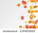 maple leaves vector  autumn... | Shutterstock .eps vector #1194053035