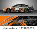 car wrap design vector. graphic ... | Shutterstock .eps vector #1194053095