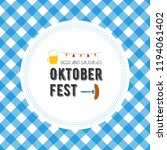 oktoberfest poster illustration ... | Shutterstock . vector #1194061402