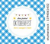 oktoberfest poster illustration ... | Shutterstock . vector #1194061432