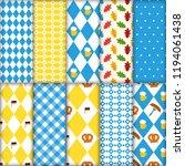cute set of seamless... | Shutterstock . vector #1194061438